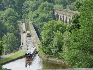view of chirk aqueduct and viaduct