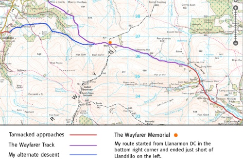 Map of the Wayfarer Track